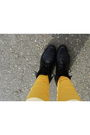 Black-dress-gold-american-apparel-socks-beige-accessories-black-boots