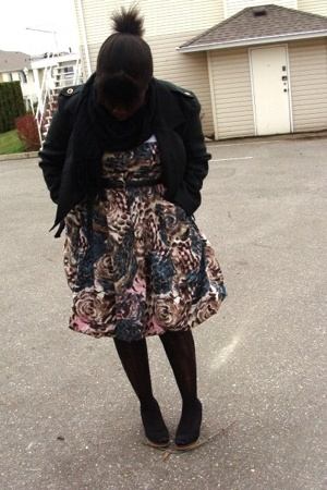 jacket - H&M dress - belt - payless shoes