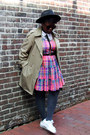 Ivory-american-apparel-shirt-bubble-gum-madras-plaid-la-chateau-vintage-dress