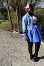 Blue-gap-jacket-white-t-shirt-brown-belt-blue-skirt-black-hot-topic-stoc