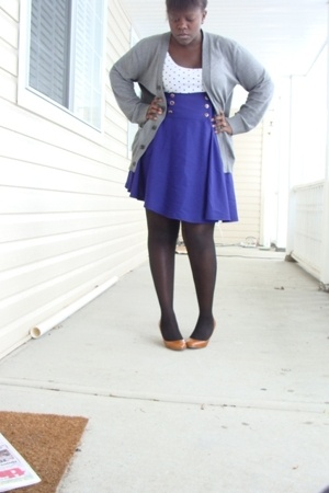 H&amp;M top - Gap sweater - skirt - wal-mart tights - joe fresh style shoes