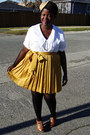 Navy-blazer-black-over-the-knee-h-m-socks-mustard-gap-skirt-cream-blouse-