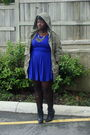 Blue-forever-21-dress-beige-accessories-black-payless-boots-green-bluenote