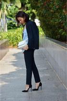 navy H&M blazer - white Lowrys Farm bag - navy H&M pants