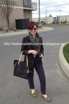 black H&M blazer - charcoal gray Simply Vera by Vera Wang scarf