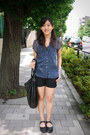 Gap-shorts-zara-top-swedish-hasbeens-clogs