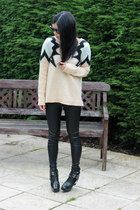 River Island jumper - sam edelman boots - Oasis leggings