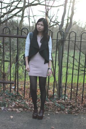 Dorothy Perkins heels - Topshop dress - Miss Selfridge jacket - balenciaga bag