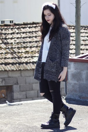 Sheinside cardigan - Stradivarius pants