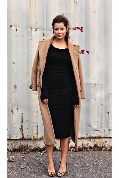 19b1a7fdf5 Black Ribbed Midi Zara Dresses, Dark Brown Leopard Print Tony Bianco ...