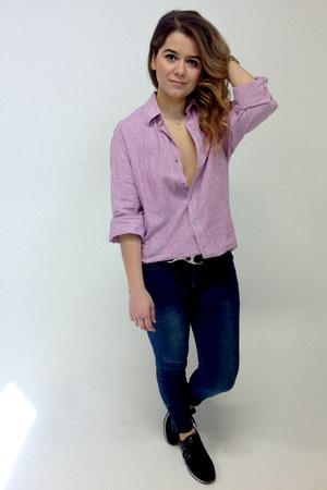 navy skinny jeans Zara jeans - light pink menswear Zara shirt