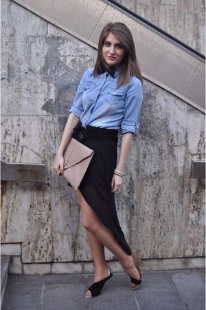 Zara heels - Mango shirt - asos bag - Zara bracelet - Zara belt