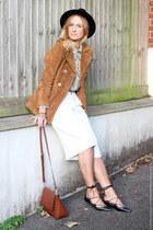 suede Zara jacket - Primark hat - Zara shirt - leather Zara bag - Primark pants
