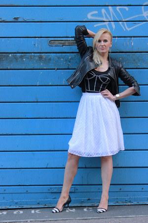 Zara jacket - Zara heels - Primark skirt
