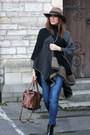 Zara-jeans-light-brown-zara-hat-new-look-cape