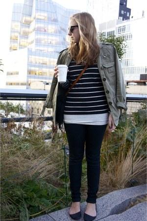 Zara jacket - Uniqlo jeans - H&M shirt - JCrew necklace