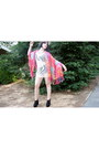 White-crochet-urban-outfitters-dress-hot-pink-tie-dye-urban-outfitters-scarf