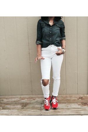 Forever 21 jeans - JCPenney top - New Balance sneakers