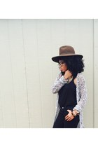 Forever 21 hat - JCPenney jeans - Forever 21 top - JCPenney cardigan
