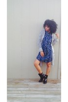 Gap dress - Forever 21 boots - Arizona cardigan