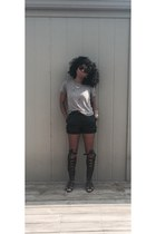 Forever 21 sunglasses - H&M shorts - GoJane sandals - Forever 21 top