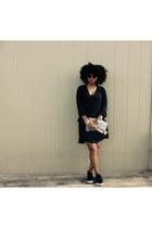 black H&M dress - Urban Outfitters bag - black Aldo loafers