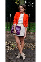 Zara blazer - vintage from Ebay boots - Mulberry bag - Zara skirt