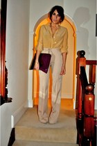 Topshop shirt - Mulberry bag - Zara heels - Zara pants