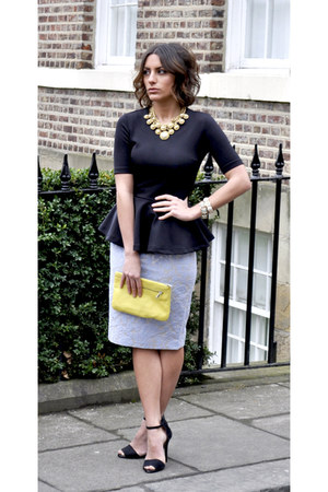 Zara heels - COS bag - H&M Trend skirt - H&M Trend top
