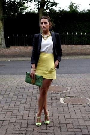Zara skirt - Zara blazer - jocasi bag - Christian Louboutin heels
