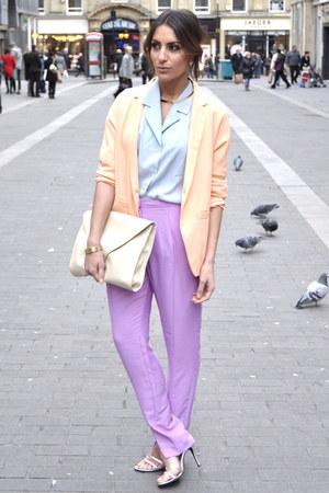 H&M Trend blazer - Paris shirt - H&M Trend pants - Ebay heels