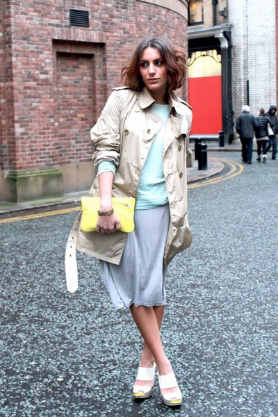 COS bag - Burberry jacket - asos heels - Zara top