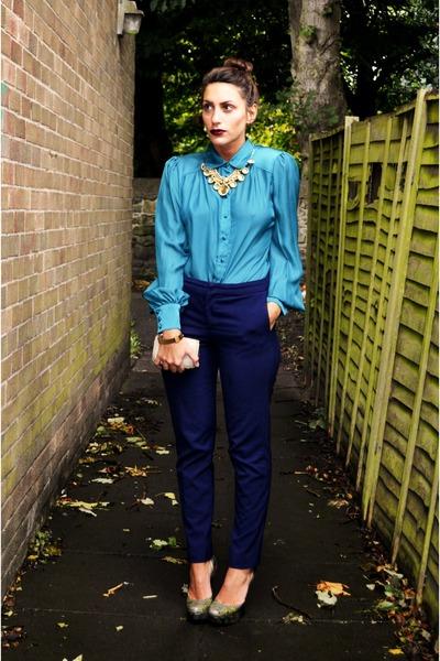 Primark blouse - vintage bag - Primark heels - Zara pants