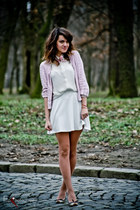 cream vintage shoes - white Forever 21 shirt - white handmade skirt