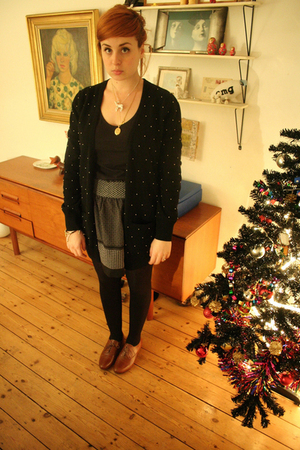 black Topshop cardigan - black Kimichi and Blue skirt