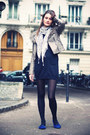 Suede-cosmoparis-shoes-sinequanone-dress-topshop-blazer