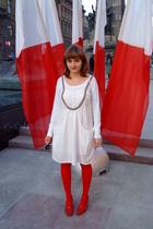 H&M blouse - culture dress - purse - ryko shoes - H&M tights