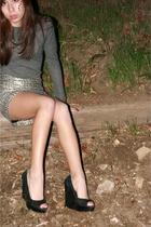 black Charles David shoes - silver from wasteland Faye Alfelo shirt