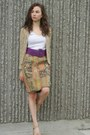 Beige-handmade-sweater-deep-purple-h-m-belt-vintage-skirt-white-caslon-top