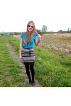 skirt - aquamarine shirt