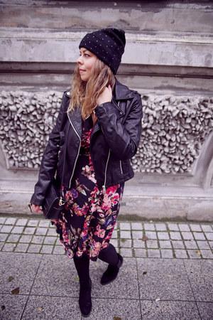 black Stradivarius jacket - black Zara belt
