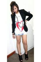 black from hongkong blazer - white bought online shirt - blue What A Girl Wants