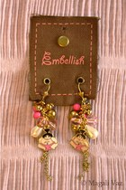 gold Blend Fashion Accessories earrings - bubble gum Blend Fashion Accessories e