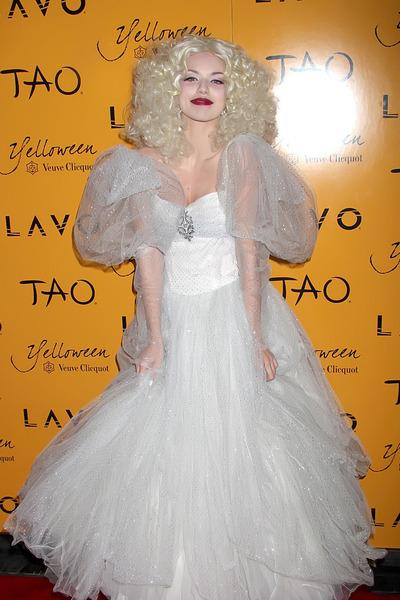 white unknown dress