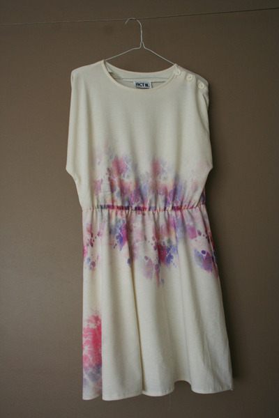 tie dyed thrifted dress
