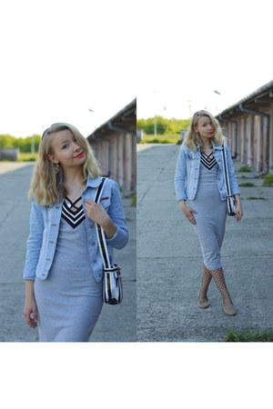 heather gray cotton shein dress