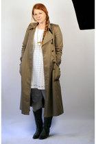 vintage coat - gray DIY tights - gray Cowboy boots - white kohls dress - gold Wa