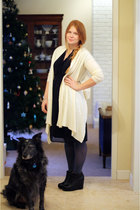 white  sweater - black Target dress - gray Target tights - black Aldo shoes