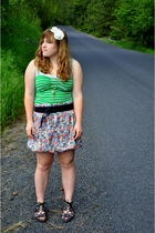 macys offbrand skirt - Forever21 top - accessories - f21 shoes