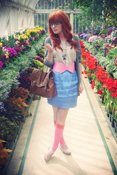 bubble gum asos socks - sky blue Limited Edition skirt - bubble gum asos belt